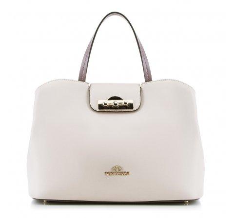 Dámská kabelka, béžovo-fialová, 88-4E-416-7, Obrázek 1