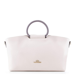 dámská kabelka, béžovo-fialová, 88-4E-420-9, Obrázek 1