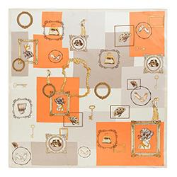 Dámský šátek, béžovo-oranžová, 90-7D-S33-X2, Obrázek 1