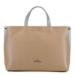 Dámská kabelka, béžovo-šedá, 92-4E-310-9, Obrázek 1