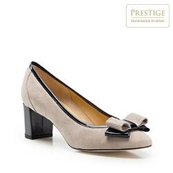 Dámské boty, béžovo-tmavěmodrá, 86-D-114-9-38_5, Obrázek 1