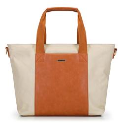 Női nagy shopper táska, bézs-barna, 92-4Y-312-5, Fénykép 1