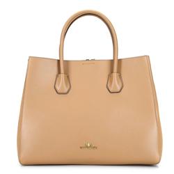 Női  táska bőrből, bézs, 92-4E-606-90, Fénykép 1