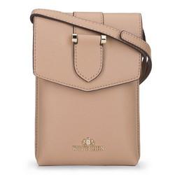Kis női táska croco bőrből, bézs, 92-2E-652-9, Fénykép 1