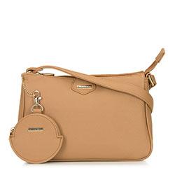 Kis női táska kulcstartóval, bézs, 92-4Y-579-9, Fénykép 1