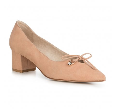Női bíróság cipő, bézs, 90-D-903-1-35, Fénykép 1