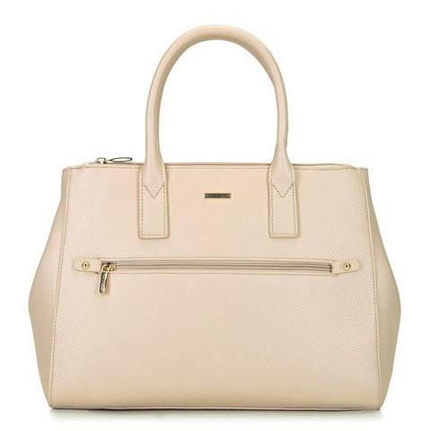 Női shopper táska állítható szélességgel, bézs, 92-4Y-613-3, Fénykép 1