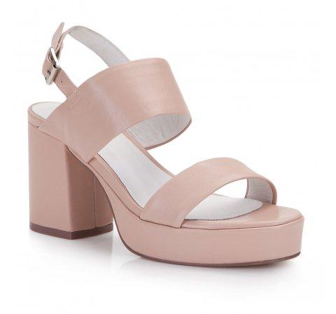 Női cipő, bézs-rózsaszín, 86-D-904-9-38, Fénykép 1