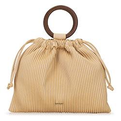 Shopper táska karikával, bézs, 92-4Y-552-5, Fénykép 1