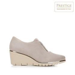 Strasszos platform női félcipő, bézs, 92-D-654-9-41, Fénykép 1