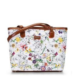 Dámská kabelka, bílá a žlutá, 92-4Y-630-0X, Obrázek 1