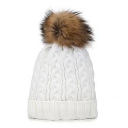Dámská čepice, bílá, 89-HF-201-0, Obrázek 1
