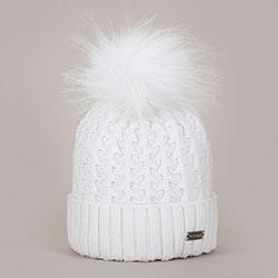 Dámská čepice, bílá, 93-HF-012-0, Obrázek 1