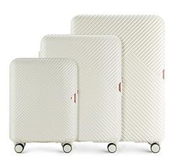 Sada cestovních zavazadel, bílá, 56-3P-84S-88, Obrázek 1