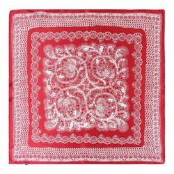 Hedvábný šátek, bílá - vínová, 93-7D-S01-49, Obrázek 1