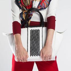 Dámská kabelka, bílo-černá, 86-4Y-424-0, Obrázek 1
