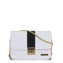 Dámská kabelka, bílo-červená, 92-4Y-209-0, Obrázek 1