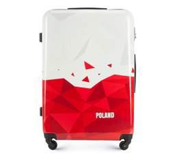 Velký kufr, bílo-červená, 56-3A-243-TR, Obrázek 1