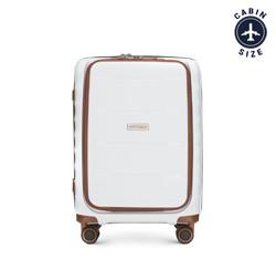 Kabinový cestovní kufr, bílo-hnědá, 56-3T-760-88, Obrázek 1