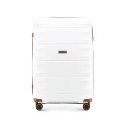 Střední cestovní kufr, bílo-hnědá, 56-3T-762-88, Obrázek 1