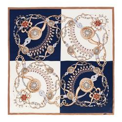 Hedvábná šála, bílo-modrá, 91-7D-S37-X1, Obrázek 1