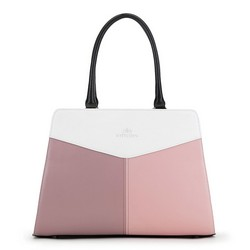 Dámská kabelka, bílo-růžová, 90-4E-352-X1, Obrázek 1