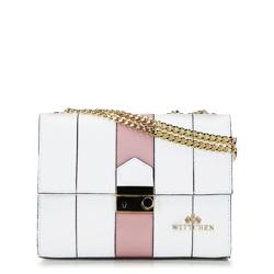 Dámská kabelka, bílo-růžová, 92-4E-630-0, Obrázek 1