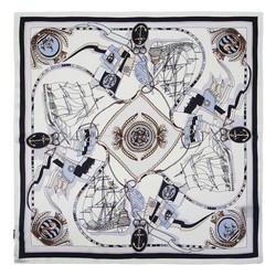 Malý šátek, bílo-světlemodrá, 91-7D-S14-X4, Obrázek 1