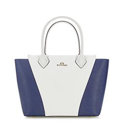 dámská kabelka, bílo-tmavěmodrá, 86-4E-428-0, Obrázek 1