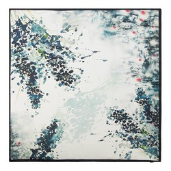 Dámská šála, bílo-tmavěmodrá, 90-7D-S22-X1, Obrázek 1