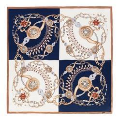 Šátek, bílo-tmavěmodrá, 91-7D-S31-X6, Obrázek 1