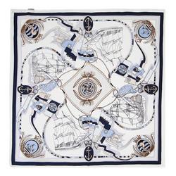 Dámský šátek, bílo-tmavěmodrá, 89-7D-S14-X17, Obrázek 1