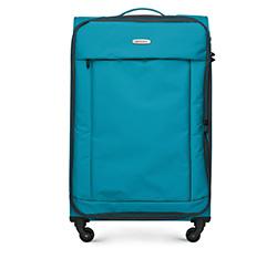 Большой чемодан, бирюзовый, 56-3S-463-95, Фотография 1