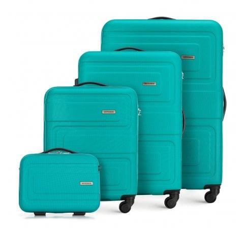 Комплект чемоданов, бирюзовый, 56-3A-63K-90, Фотография 1