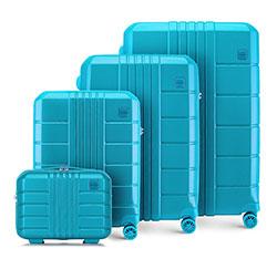 Комплект чемоданов из поликарбоната, бирюзовый, 56-3P-82K-95, Фотография 1