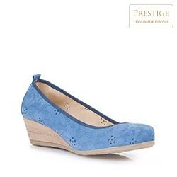 Damenschuhe, blau, 86-D-308-7-37, Bild 1