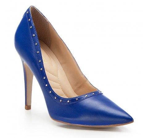Damenschuhe, blau, 86-D-751-P-39, Bild 1