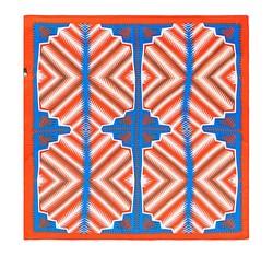 Frauen Halstuch, blau-orange, 86-7D-S13-X1, Bild 1
