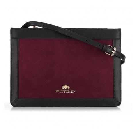 Női táska, sötét vörös-fekete, 89-4E-406-2, Fénykép 1