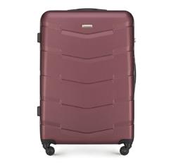 Большой чемодан из ABS пластика, бордовый, 56-3A-403-31, Фотография 1