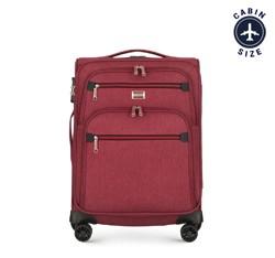 Чемодан ручная кладь, бордовый, 56-3S-501-30, Фотография 1
