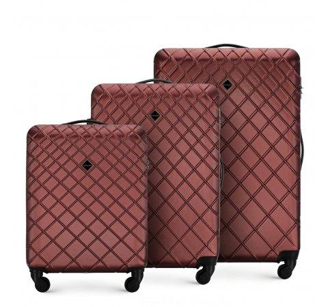 Комплект чемоданов, бордовый, 56-3A-55S-11, Фотография 1