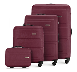 Комплект чемоданов, бордовый, 56-3A-63K-35, Фотография 1
