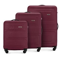 Комплект чемоданов, бордовый, 56-3A-63S-35, Фотография 1
