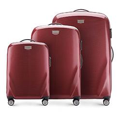 Комплект чемоданов, бордовый, 56-3P-57S-35, Фотография 1