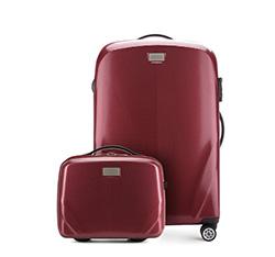 Комплект (Средний чемодан + косметичка), бордовый, 56-3P-572_4-35, Фотография 1