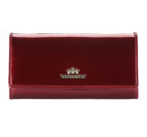 Большой женский кошелек из лакированной кожи, бордовый, 25-1-052-0, Фотография 1