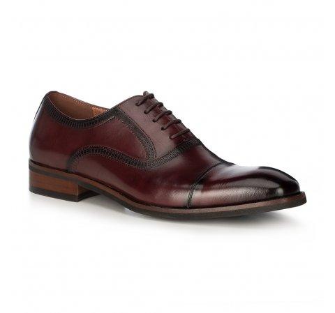 Мужские кожаные туфли, бордовый, 91-M-906-2-45, Фотография 1