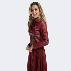 Куртка женская, бордовый, 90-9P-100-2-M, Фотография 1