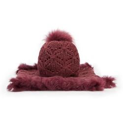 Набор шапка + шарф, бордовый, 89-SF-002-2, Фотография 1